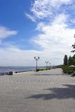 View on quay of river Volga Stock Images