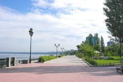 View on quay of river Volga Royalty Free Stock Photos