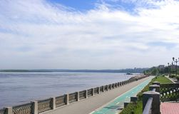 View on quay of river Volga Royalty Free Stock Photo