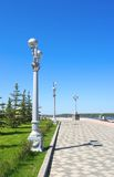 View on quay of river Volga Stock Photography