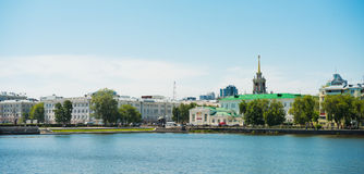 Embankment Yekaterinburg City. Stock Photo