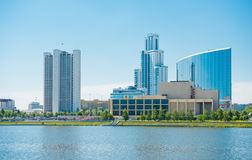 Quay wharf embankment Yekaterinburg City. Royalty Free Stock Images