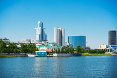 Quay wharf embankment Yekaterinburg City. Royalty Free Stock Photo