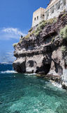 View from quayside at Fira, Santorini Royalty Free Stock Photography
