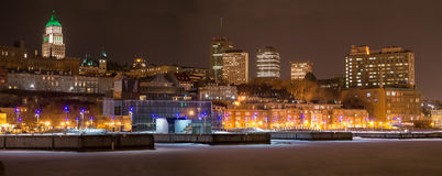Quebec City Harbourfront panorama stock photography