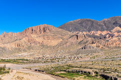 View of the Quebrada de la Humahuaca, Argentina Royalty Free Stock Photos