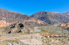 View of the Quebrada de la Humahuaca, Argentina Stock Images