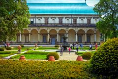 View of Queen Anne`s summer palace in Prague, Czech Republic stock images