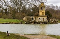 The Queen's Hamlet in Palace of Versailles stock images