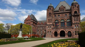 View of Queens Park in Toronto on a sunny day stock video