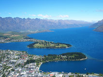 View of Queens town, New Zealand Stock Photo