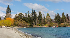 View of Queenstown Beach Royalty Free Stock Image