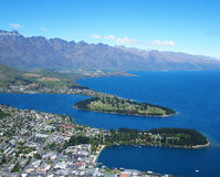 View of Queenstown Stock Photo