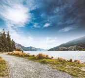 View of Queenstown New Zealand Stock Photos
