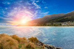 View of Queenstown New Zealand Stock Photography