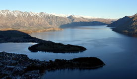 View of Queenstown and The Remarkables Royalty Free Stock Images