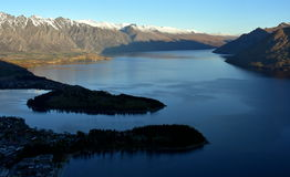 View of Queenstown and The Remarkables Royalty Free Stock Image