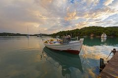 Quiet creek at Porto-Heli, Peloponnese - Greece. View of a quiet creek at Porto-Heli, Peloponnese - Greece Stock Image