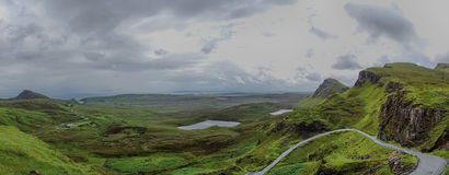 View from Quiraing, Isle of Skye, Scotland Stock Photography