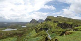 View from Quiraing, Isle of Skye, Scotland Stock Image