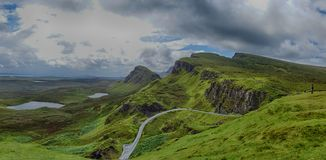View from Quiraing, Isle of Skye, Scotland Royalty Free Stock Images