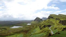 View from Quiraing, Isle of Skye, Scotland Stock Photo
