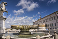View of Quirinal's square Stock Photography