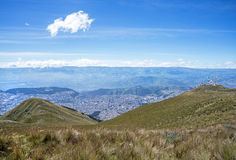 View of Quito. From the high Andes mountains Royalty Free Stock Photography