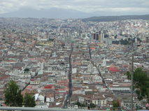 The view of Quito. The view of the old and new city of Quito, Ecuador Stock Photo