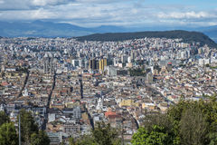 View of Quito from the Top of the Mountain Stock Photos
