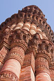 View of the Qutb Minar tower in Delhi Royalty Free Stock Images