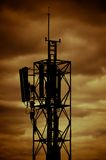 View Radio Transmitters. The Photo View Radio Transmitter and The Golden Sky Stock Image