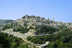 View of Ragusa Ibla in Sicily - Italy. The cityscape of the town of Ragusa Ibla in Sicily in Italy Royalty Free Stock Photography