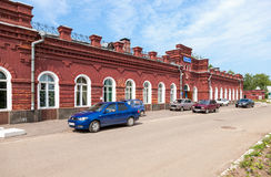 View of Rail Terminal Arzamas-1 in summer sunny day Stock Photography