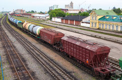 View of Rail Terminal in city Ivanovo in summertime. Royalty Free Stock Photos
