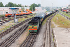 View of Rail Terminal in city Ivanovo in summertime. Stock Photo