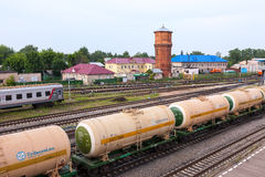 View of Rail Terminal in city Ivanovo in summertime. Stock Images