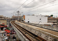 View of the rail tracks in Manila, Philippines Stock Photography