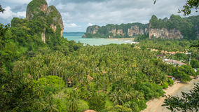 View on Railay beach from a height, Krabi, Thailand.  Stock Image