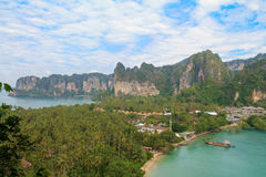 View on the Railay peninsula Royalty Free Stock Photography