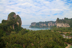 View on the Railay peninsula from the rock Royalty Free Stock Images