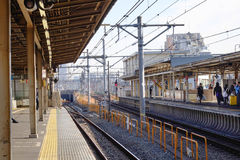 View of the railtrack at Kyoto station in Japan Stock Photography