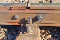 View of railway bolt Stock Photos