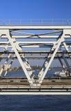 View through a railway bridge Stock Image