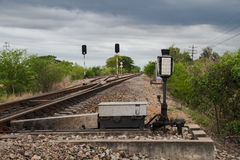 View of the railway Royalty Free Stock Photo