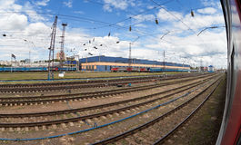 View of the railway station Royalty Free Stock Images