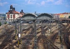 View on railway station stock photography