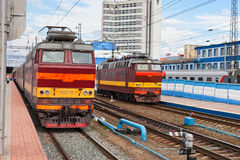 View of the railway station in Russia Royalty Free Stock Photography