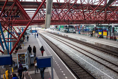 View of a railway station in Zaandam Royalty Free Stock Photography