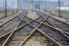 A view of a railway track Stock Images